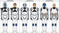 319th Ranger Division clone officers by MarcusStarkiller on DeviantArt