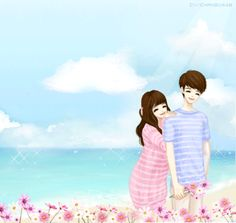 싸이스킨배경 : 네이버 블로그 Cute Couple Pictures Cartoon, Anime Love Couple, Weird Pictures, Korean Illustration, Couple Illustration, Anime Couples, Cute Couples, Fantasy Love, Fantasy Art