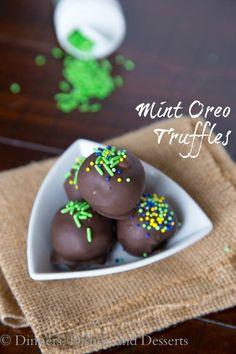 Mint Oreo Truffles.