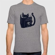 World Domination For Cats Mens Fitted Tee Tri-Grey SMALL