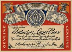 Placa Vintage Budweiser
