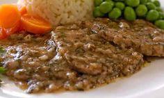 Scaloppine al marsala Steak, Cooking Recipes, Beef, Vegetables, Chicken, Meals, Best Healthy Recipes, Veggies, Food Items