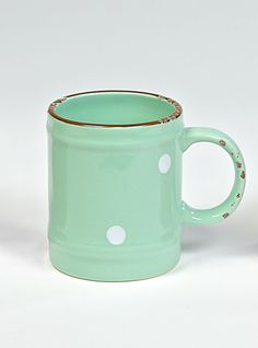 COUNTRY RUSTY GREEN Mug Green Mugs, Stoneware, Tea Pots, Shabby Chic, Country, Tableware, Shopping, Collection, Design
