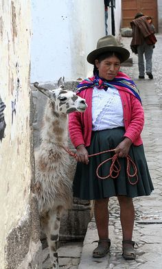 Llama Lady, Cusco - Peru