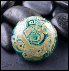One of my very first handmade glass cabochons. www.beadworx.com