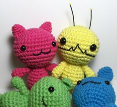 Nerdigurumi - Free Amigurumi Crochet Patterns with love for the Nerdy » » Alien Hominid, Chibi Kawaii Cat, Bunny and Bear Amigurumi Patterns