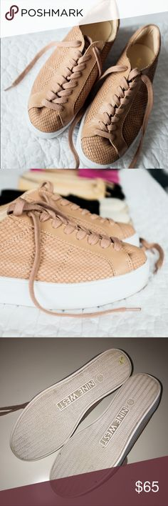 Nude Platform Sneaker Only worn like two times. Great for walking. Great condition. See pictures for current condition. No trades // No PayPal Nine West Shoes Sneakers