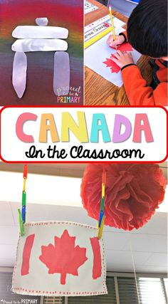 Looking for fun and engaging classroom activities to teach children about Canada and its symbols? This post includes arts and craft activities, lesson suggestions and ideas, and a FREE printable Canadian resource for primary teachers. Multicultural Activities, Social Studies Activities, Teaching Social Studies, Classroom Activities, Preschool Activities, Teaching Kids, Educational Activities, Classroom Ideas, Geography Activities