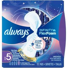 Always Infinity Size 5 Extra Heavy Overnight Sanitary Pads with Wings, Unscented, 11 Count Period Pads, Period Kit, Best Sanitary Pads, Always Infinity Pads, Period Story, Always Pads, Female Hygiene, Sanitary Napkin, Body Butter