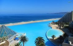The World's Largest Swimming Pool - San Alfonso del Mar, Chile in Algarrobo, Chile, South America | Travel | Hand Luggage Only