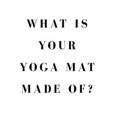 Hey  yogis.....what is your yoga mat made of?  Is it made of plastic PVC? PVC ❌ is one of the most environmentally hazardous consumer materials ever produced. Greenpeace ☮️ @greenpeace have been lobbying to stop the use of PVC because of the dioxin produced during its manufacture. Toxic for humans and the environment and unfortunately many yoga mats are 100% PVC. ✖️✖️✖️✖️✖️✖️✖️✖️✖️✖️ Our mats are made of natural tree rubber with no phthalates, silicon, latex PVC or toxic chemicals. The...