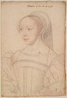 1550 (approx) - Françoise de Brézé dame de la Marck, duchesse de Bouillon, comtesse de Maulevrier, baronne de Mauny (1519-1574) wife of Robert IV .La Marck Duc Bouillon/sister of Louise*1521+1577 daughters of Diane Poitiers- CLOUET François -