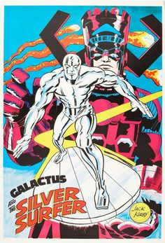 Cap'n's Comics: Some Silver Surfer by Jack Kirby Marvel Comics, Marvel E Dc, Marvel Comic Books, Comic Book Heroes, Marvel Heroes, Comic Books Art, Marvel Universe, Cosmic Comics, Comic Book Artists