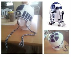 R2 - D2 earflap hat