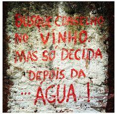 #vinho #agua