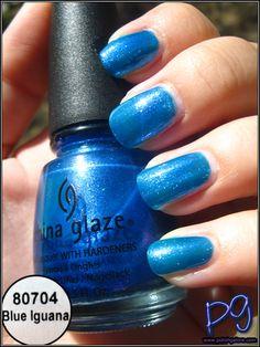 Polish Galore: China Glaze Blue Iguana