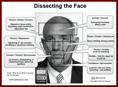 Deciphering The Face: A Visual Body Language Guide By Joe Navarro.