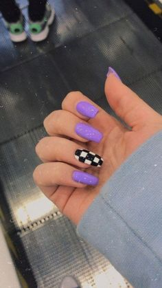 Purple Acrylic Nails, Acrylic Nails Coffin Short, Square Acrylic Nails, Best Acrylic Nails, Purple Nails, Summer Acrylic Nails, Summer Nails, Winter Nails, Coffin Nails