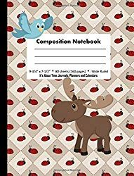 Composition Notebook: Wide Ruled Paper Lady Bug Country
