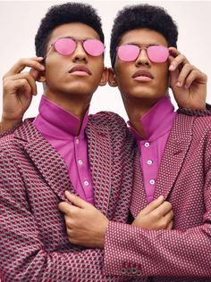 EDITORIAL: Jan Carlos & Hector Diaz, Baylee & Kelsey Soles in WSJ. Magazine February 2017 by Bruno Staub — Pink Perfection —   Photography: Bruno Staub,  Models: Jan Carlos Diaz & Hector Diaz, Baylee Soles & Kelsey Soles,  Styling: Julian Ganio,  Hair: Maranda,  Make-Up: Ozzy Salvatierra.