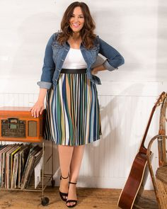 Classy Fashion Tips Kiyonna Womens Plus Size Boardwalk Bliss Skirt.Classy Fashion Tips Kiyonna Womens Plus Size Boardwalk Bliss Skirt Look Plus Size, Plus Size Casual, Plus Size Tops, Plus Size Style, Casual Plus Size Outfits, Plus Size Hair, Plus Size Interview Outfits, Interview Attire, Casual Attire