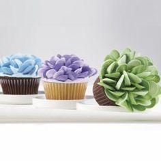 Two Tone Rosebud Petal Jumbo Cupcakes