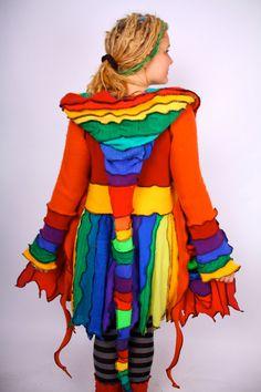 Pee Wee Herman  Pixie Petal Coat  MEDIUM LARGE by katwise on Etsy, $333.00