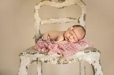 shabby chic chair newborn