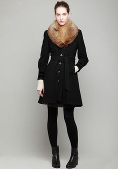 HOPE X NINA PERSSON /  NINA COAT W/ FUR COLLAR