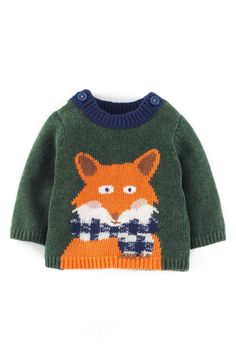 Mini Boden Intarsia Knit Sweater (Baby Boys) | Nordstrom