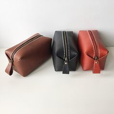 Handcrafted leather accessories and handbags by abokika Leather Projects, Leather Crafts, Leather Handbags, Leather Bag, Spa Gifts, Cosmetic Pouch, Leather Accessories, Leather Working, Anniversary Gifts