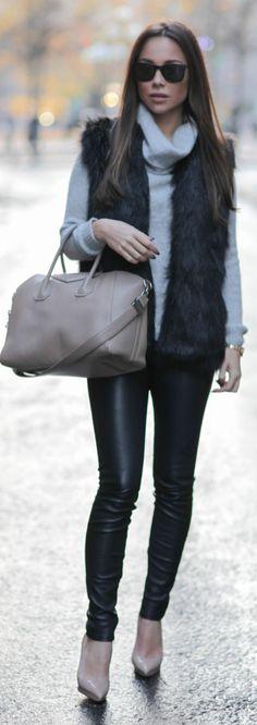 Gray Oversize Cozy Turtleneck • Street 'CHIC • ✿ιиѕριяαтισи❀ #abbigliamento