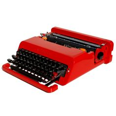 Revitalized Red Olivetti Valentine Typewriter Professionally Refurbished Portable & Two New Ribbons