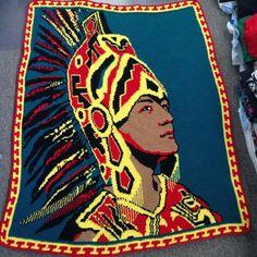 Mexican Art, Tapestry crochet, crochet, arte mexicana, tejido, ganchillo, tejer, knit, cultura, culture, aztec, mexica, mexican