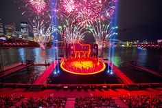 The opera 'Carmen' performed in Sydney Harbour