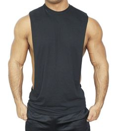 Muscle Cut Stringer Workout T-shirt Tank Bodybuilder American Apparel at Amazon Men's Clothing store: I like this for argonauts. We can do this in different colors, this also comes in white. Also the neckline can be cut. We can also take a tshirt and make this type of tank top too by cutting it, maybe that can give a cool look.