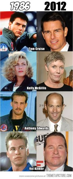 Funny pictures about Tom Cruise Wins. Oh, and cool pics about Tom Cruise Wins. Also, Tom Cruise Wins photos. Top Gun, Tom Cruise, Kelly Mcgillis, Val Kilmer, Celebrities Then And Now, Stars Then And Now, Film Serie, Famous Faces, Hollywood Stars