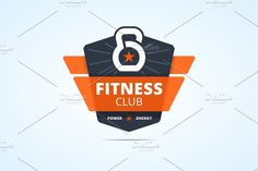 Fitness club sign Graphics Type of files:- Adobe Illustrator file with editable text- EPS file with outlined text- PNG prev by zaniman