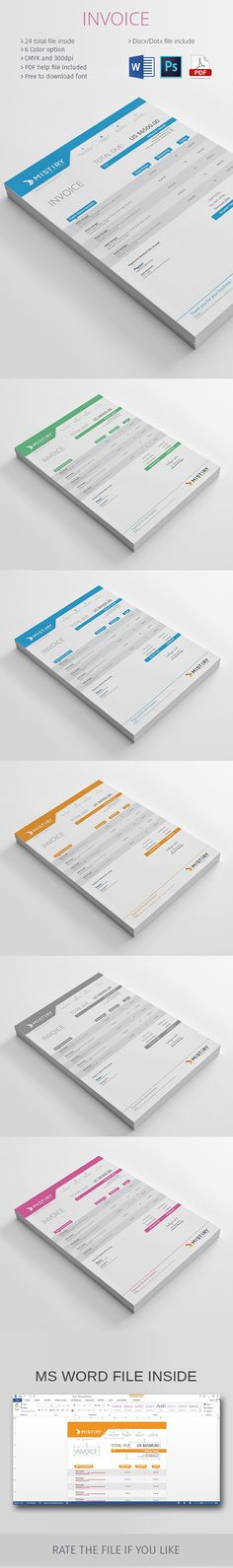 Check out new work on my @Behance portfolio  - check invoice