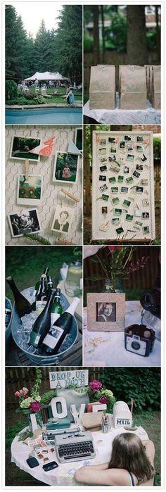 fotos instantaneas - maquina de escribir para dejar mensajes
