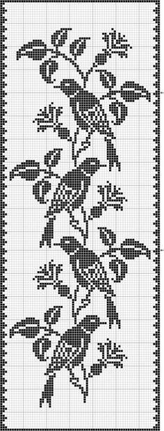 Crochet filet pássaros                                                       … …                                                                                                                                                     Mais