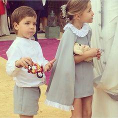 Vestir así de bien a los niños del cortejo merece un aplauso #innovias https://innovias.wordpress.com/2014/04/01/look-para-el-cortejo-nupcial-mas-especial/