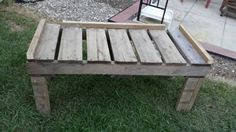 Pallet bench.  Need to sand and paint/stain.