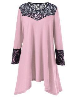 $6.90 Plus Size Asymmetrical Dress