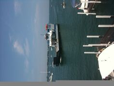 The Islander (aka the best ferry) in the harbor at Put-in-Bay