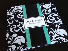 Tiffany Blue Black and White Bridal Shower Book by lovebirdbooks, $40.00