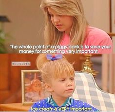 I totally agree with Michelle. Full House Funny, Full House Memes, Full House Quotes, House Jokes, Tv Show Quotes, Movie Quotes, Funny Relatable Memes, Funny Texts, Funny Jokes