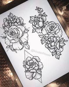 "Polubienia: 309, komentarze: 4 – Victoria Kovalenko | Tattooer (@kovaleshkaaa) na Instagramie: ""Свободные эскизы✨…"""