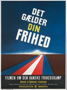 Det gælder din frihed: Theodor Christensen (DK, 1946). Poster art: unknown. Poster still: unknown. Theodor Christensen's brilliant editing of film footage from the five damn years. Commissioned by the Freedom Council and premiered on 4 May 1946 raised the film immediately fierce debate with his sharp comments on the Danish policy that had taken place immediately before and during the first years of the occupation years. http://www.dfi.dk/faktaomfilm/film/da/1990.aspx?id=1990