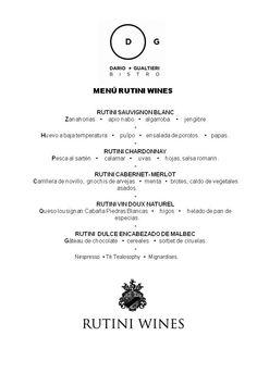 Menú Rutini Wines del 12 al 16 de enero